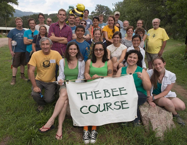 Professor Robbin Thorp with students from The Bee Course. He is in the third row (far right, standing).