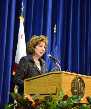 Chancellor Linda P. B. Katehi addresses the UC Davis Retiree Association.