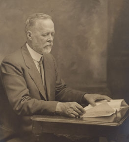 Charles W. Woodworth reading. (Photo courtesy of Brian Holden)