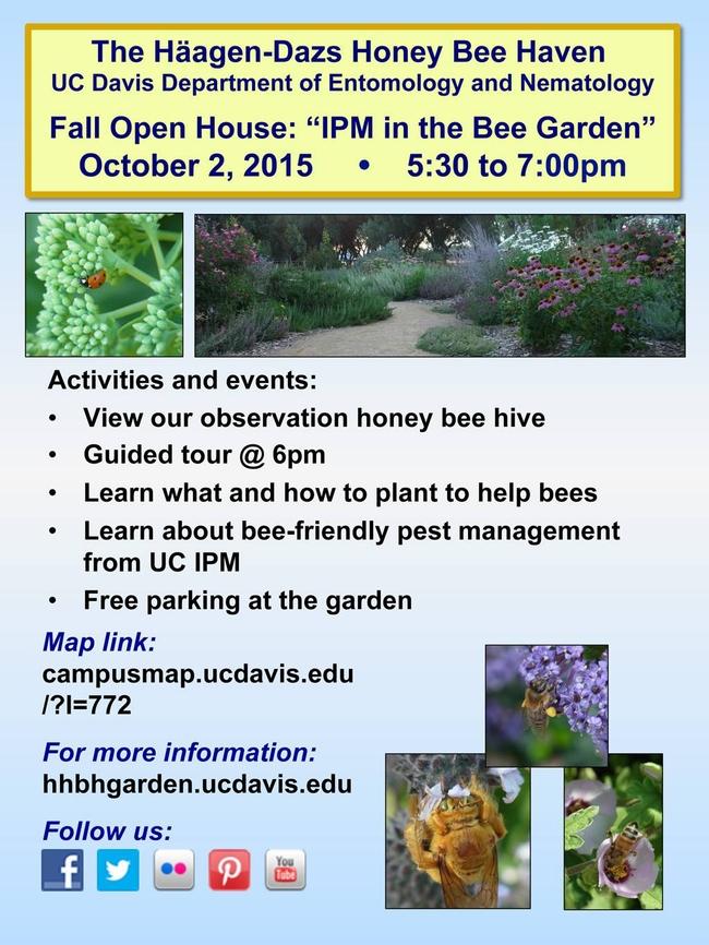 Bee Garden Open House flier