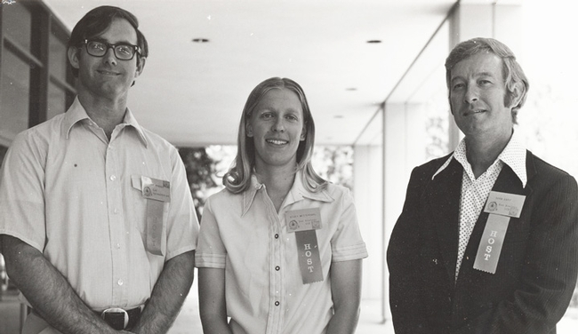 The organizers of the Western Apicultural Society: (from left) Eric Mussen, Becky Westerdahl and Norm Gary. It was Gary's idea to form WAS.