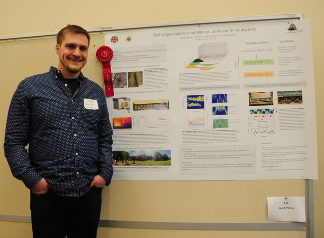 Jacob Peters of Harvard University with his second-place poster.