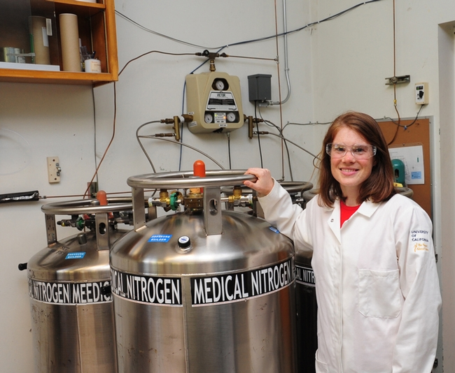 UC Davis chemist Amy Rand, who  holds a bachelor of science degree in chemistry from Mount Allison University, Canada and a doctorate in environmental chemistry at the University of Toronto, has just accepted a position as an assistant professor of organic toxicology in the chemistry department, Carleton University, Ontario.  (Photo by Kathy Keatley Garvey)