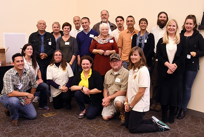 The new apprentice-level California Master Beekeepers pose for a photo at the fourth annual UC Davis Bee Symposium. (Photo by Kathy Keatley Garvey)