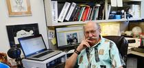 Forensic entomologist Robert Kimsey in his office in Briggs Hall. He serves as the master advisor to the animal biology major and advises the UC Davis Entomology Club. (Photo by Kathy Keatley Garvey) for Entomology & Nematology News Blog