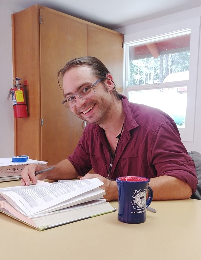 UC Davis doctoral candidate Brendon Boudinot edited a special collection of articles published Nov. 12 in the journal, Insect Systematics and Diversity. (Photo by Jill Oberski)