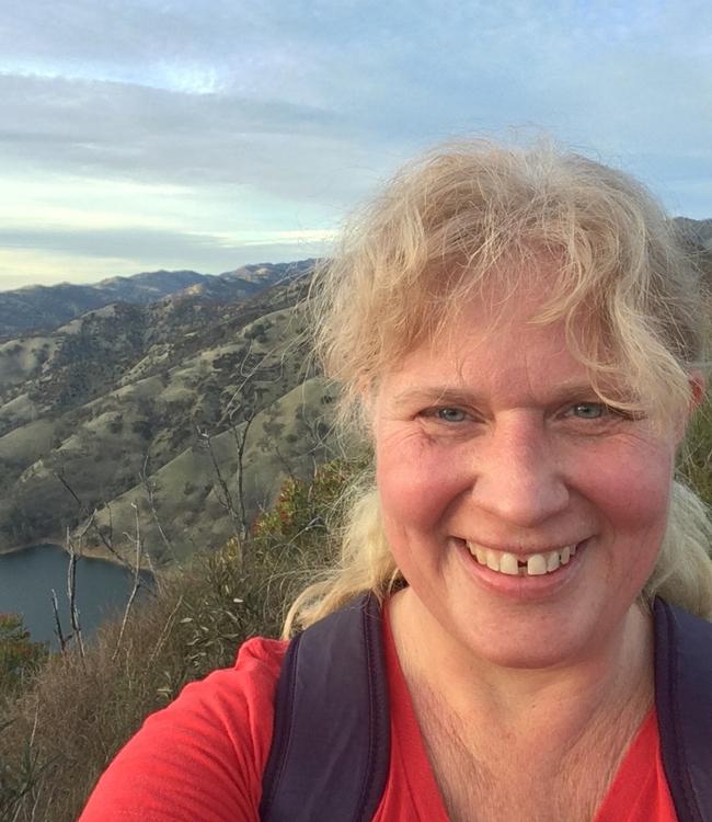 Professor Elizabeth Crone at UC Davis Stebbins Cold Canyon Reserve.