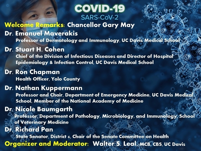 This is a partial list of the speakers for the virtual COVID-19 symposium.
