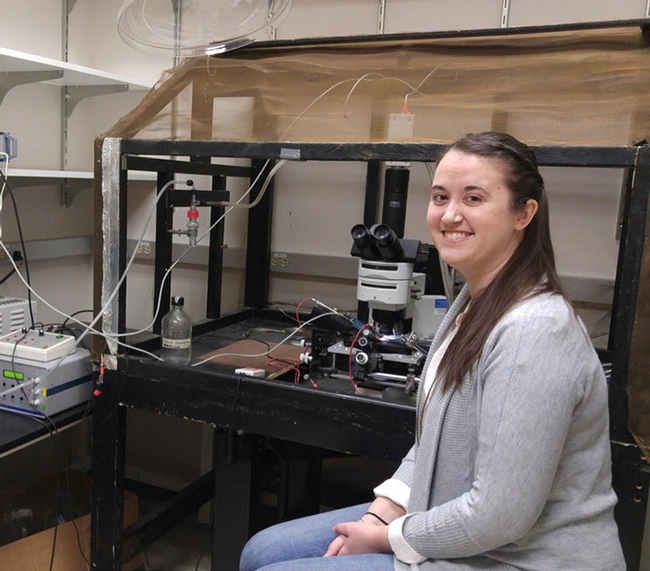 UC Davis postdoctoral researcher Amber Crowley-Gall of the Vannette lab received a USDA-NIFA fellowship to research