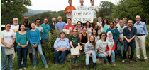 In this 2015 Bee Course class photo, Charlie Nicholson (top, far left) holds the sign. In the second row, far left, is co-instructor Robbin Thorp, UC Davis distinguished emeritus professor of entomology. Nicholson is the winner of the inaugural Robbin Thorp Memorial First-Bumble-Bee-of-the-Year Contest, sponsored by the Bohart Museum of Entomology. (Photo courtesy of The Bee Course) for Entomology & Nematology News Blog