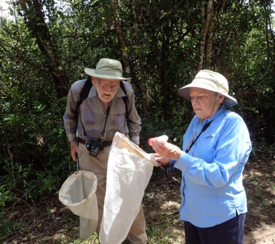 Marius Wasbauer and his wife Joanne, at the Bohart Museum Bioblitz to Belize in 2017. (Photo by Fran Keller)
