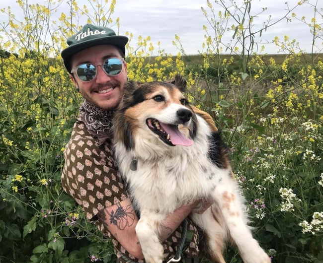 Ecologist Ash Zemenick, shown here with pal Cosmo, is the newly selected manager of the Sagehen Creek Field Station, headquartered in Truckee, Sierra Nevada mountain range. (Photo by Marshall McNunn)