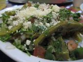 A dish made with nopales (cactus pads).