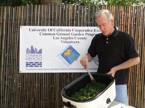 Master Gardener Volunteer making