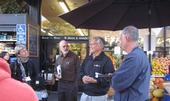 Twenty-five small, beginning and ethnic farmers visited with wholesale food buyers in the Bay Area.