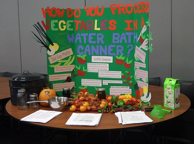 A food preservation display at the MFP conference.
