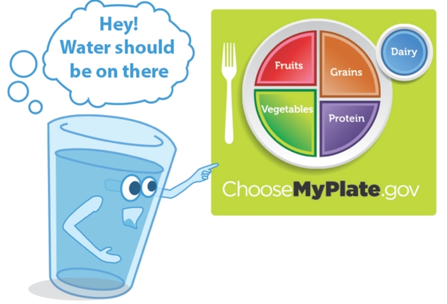UC ANR's Nutrition Policy Insitute is calling for the USDA to add water to MyPlate.