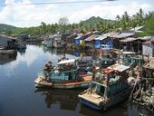 Fishing boats in tropics