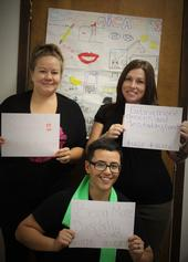 Pictured above are (clockwise, from upper left) Brenda, Cheyenne and Mercedes who showcase their #healthyselfie with goals for food safety, eating more leafy greens and being more physically active.