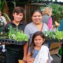 The La Mesa Verde program in San Jose helps low-income families to establish their own vegetable gardens