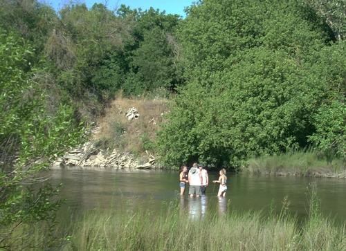 A dip in the Merced River