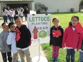 Third grade students from Fremont Elementary School joined classmates on their way to Kearney's lettuce planting at last year's Farm and Nutrition Day.