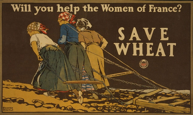 This poster played an important role in discouraging food waste and encouraging food conservation on the American home front during World War I. Noted artist Edward Penfield created the poster. It's held in the Library of Congress, Prints and Photographs Division.
