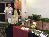 Jay Ruskey, left, and Mark Gaskell, shown at a coffee tasting in 2015. They planted their first California coffee field trial in 2002.