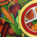 A mural designed to inspire kids to choose more fruits and vegetables will be unveiled at Burbank Preschool Feb. 23, 2018.