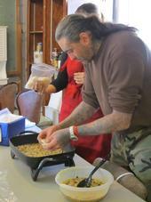 EFNEP enchilada casserole preparation