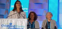 NPI director Lorrene Ritchie, left, and NPI associate director of research Gail Woodward-Lopez, honor NPI senior director of research emeritus Patricia Crawford (right) at the Childhood Obesity Conference. for Food Blog Blog