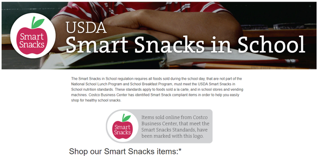 Photo of an online smart snacks store
