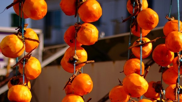 Hoshigaki style dried persimmons