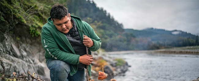 Samuel Gensaw (Yurok), co-founder of the Ancestral Guard, is featured in the film Gather.
