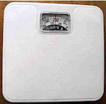 scale showing 280lb weight