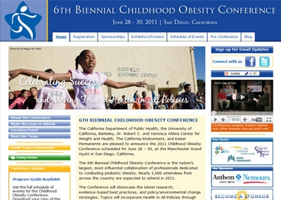 More information about the Childhood Obesity Conference is at http://www.childhood-obesity.net/.