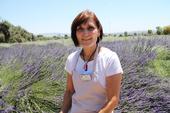 Lavender grower Carol Hamre spoke about her trials and successes regarding vertebrate pest control and drip irrigation.