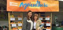 In 2019, GFI fellow Maci Lienemann Mueller, shown with California Department of Food and Agriculture Secretary Karen Ross, organized UC ANR's exhibit for Ag Day at the Capitol. for Food Blog Blog