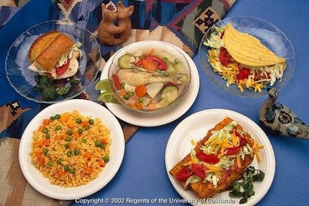 Examples of traditional Mexican food.