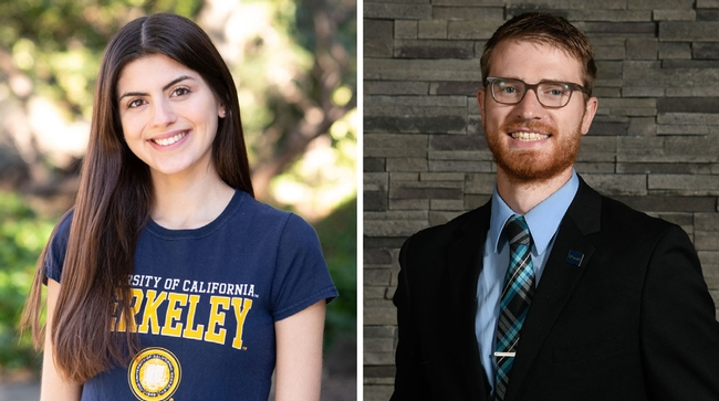 On left, Anna Rios headshot, on right is Conor McCabe.