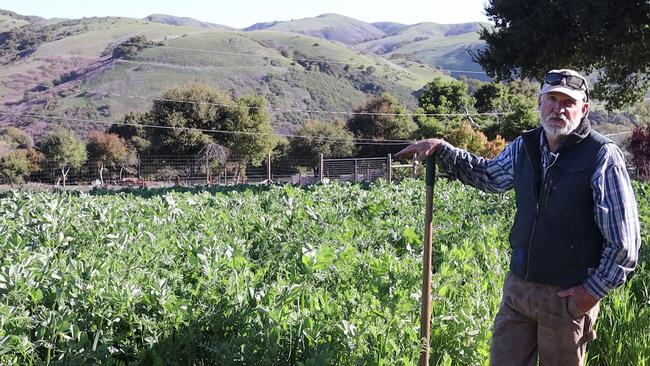 Farm Educator Jim Leap Describes Termination Process for Mixed Cover Crop