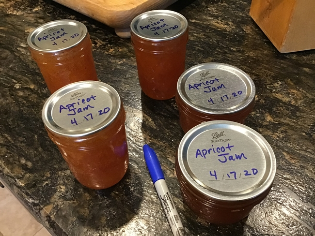 labeling the jars with product name and date