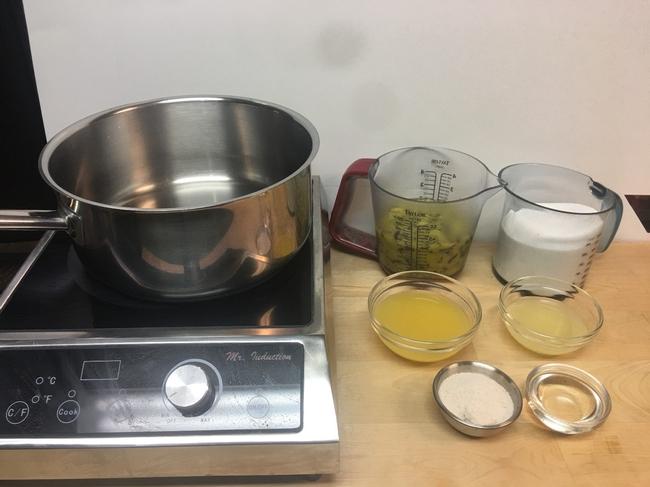 Ingredients measured