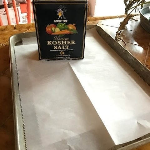 Box of Salt on Drying Tray
