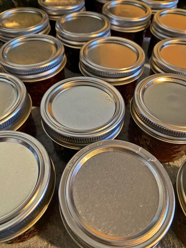 Processed jars cooling