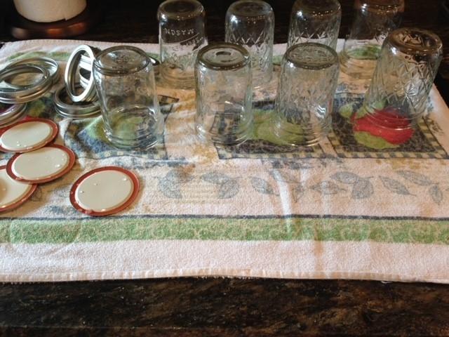 Prepared jars, lids, and rings