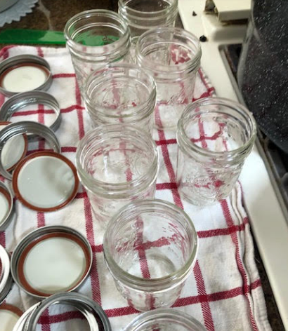 Clean jars with new lids and bands