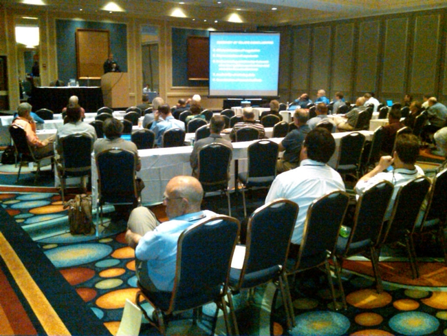 ASTM members at the Research Review Session in Anaheim, CA.