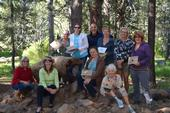 Teacher Leslie Smith (left) poses with the nine new California Naturalists who completed one-week of intensive training on July 14.