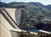 The 70-year-old Shasta Dam forms the largest reservoir in California.